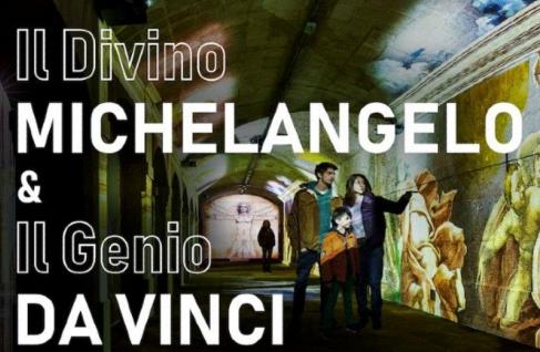"""""""IL DIVINO MICHELANGELO & IL GENIO DA VINCI""""   ALFÂNDEGA DO PORTO, PORTO"""